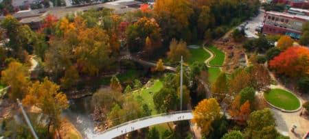 Aerial view of Falls Park